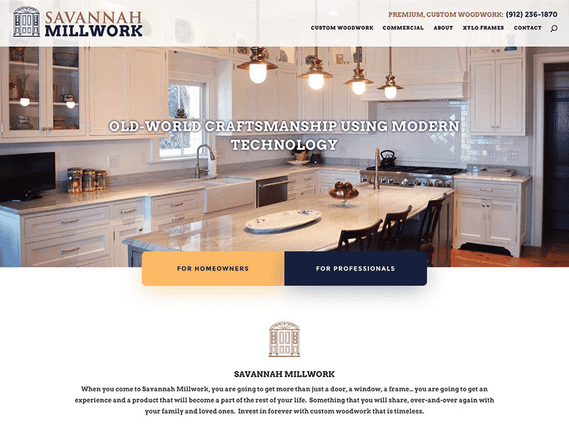 millwork website design