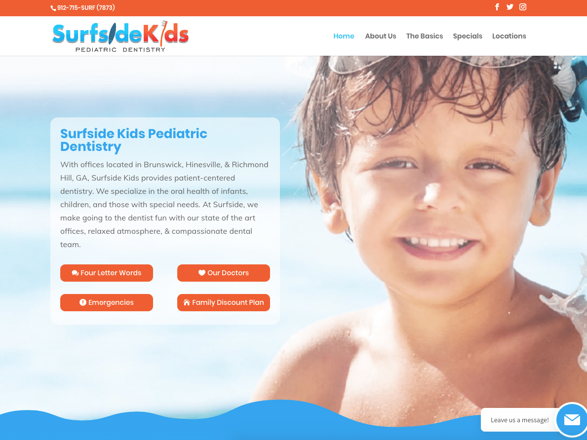surfside dentistry website