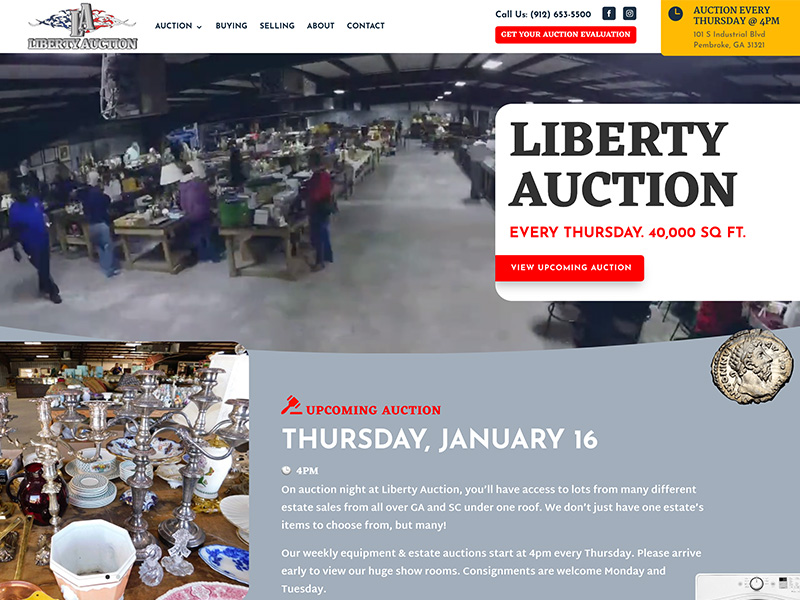 Auction Website Design | TradeBark Savannah GA