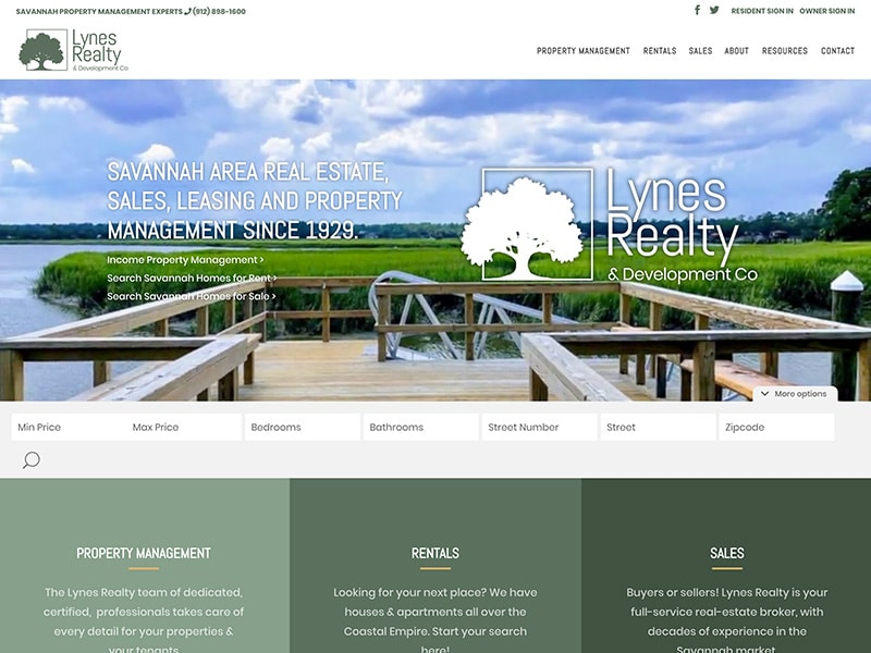 Realty Website Design | TradeBark Savannah GA
